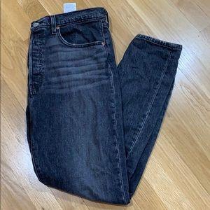 Levi's 501 Skinny Jeans, Black.